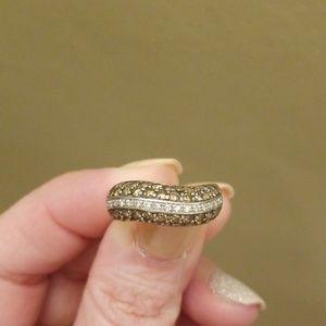 Levian white and chocolate diamond ring
